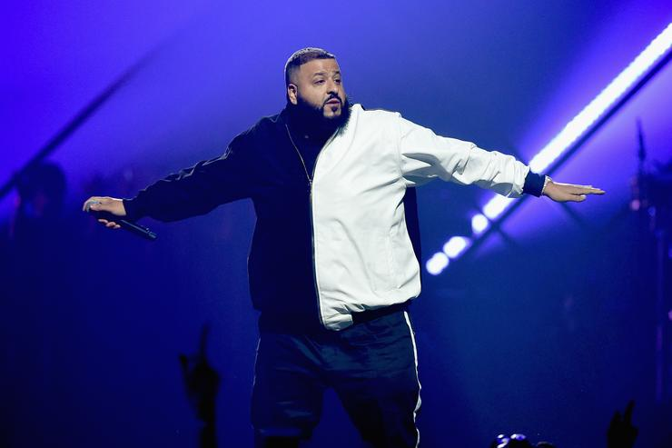 DJ Khaled performs onstage during the 2018 DIRECTV NOW Super Saturday Night Concert