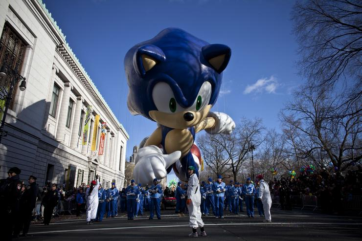 Sonic the Hedgehog at the Macy's Thanksgiving Parade
