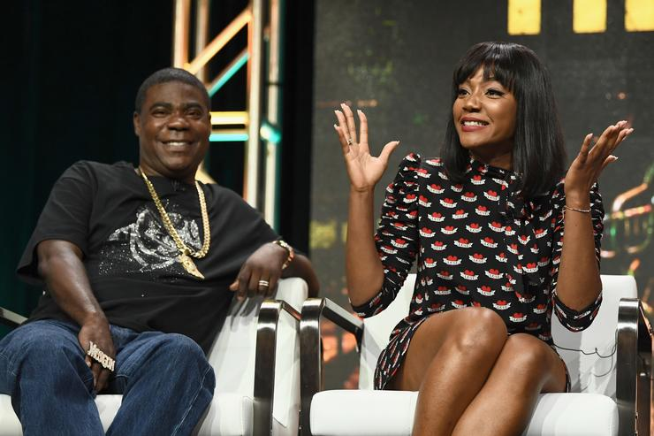 Tracy Morgan and Tiffany Haddish during the TCA Turner Summer Press Tour