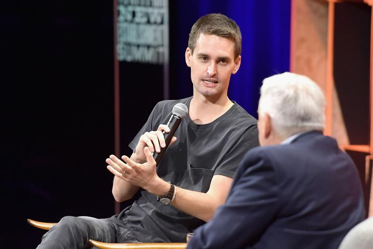 Evan Spiegel at the Vanity Fair New Establishment Summit