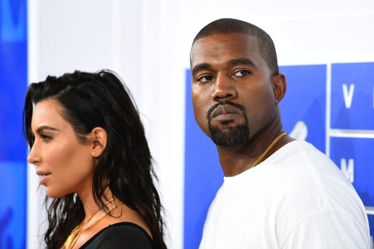 Kanye West and Kim Kardashian at the 2016 MTV Video Music Awards
