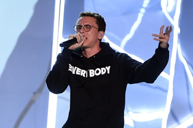 Logic performs onstage during the 2017 MTV Video Music Awards at The Forum on August 27, 2017 in Inglewood, California