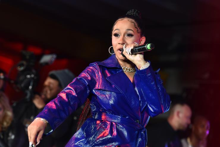Cardi B performs for fans and guests during the 2018 Maxim Party co-sponsored by blu February 3, 2018 in Minneapolis, Minnesota