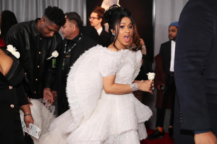 Cardi B attends the 60th Annual GRAMMY Awards at Madison Square Garden on January 28, 2018 in New York City