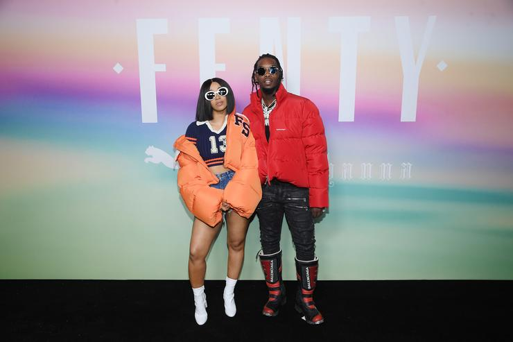 Cardi B and Offset of Migos attend the FENTY PUMA by Rihanna Spring/Summer 2018 Collection at Park Avenue Armory on September 10, 2017 in New York City
