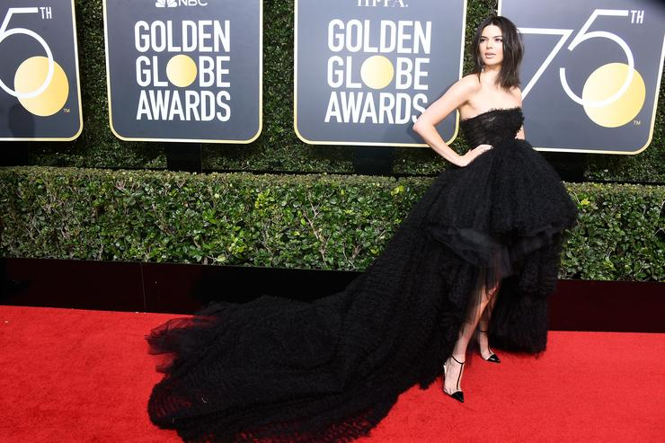 Kendall Jenner at the Golden Globe Awards