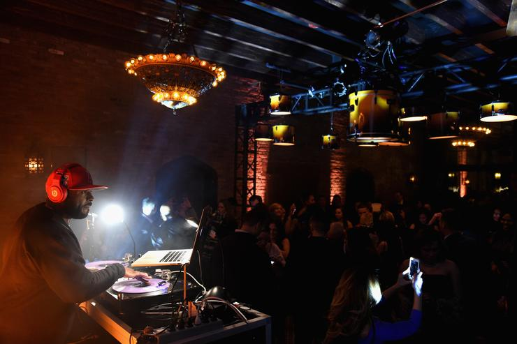 DJ Funk Flex performs during Delta Air Lines, the Official Airline Partner of the GRAMMY Awards® and Supporter of First-Time Nominees hosted a private performance with Julia Michaels to celebrate the 60th Annual GRAMMY Awards with celebrity guests and friends, at The Bowery Hotel, January 25, 2018
