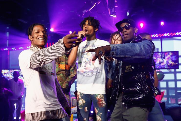 A$AP Rocky and A$AP Mob perform at MTV Studios on September 30, 2016 in New York City.