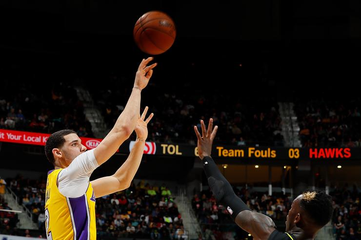 Lonzo Shooting Motion