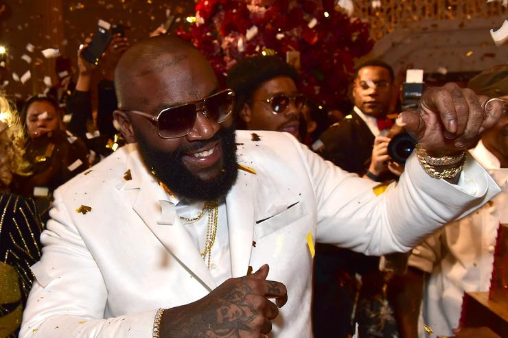 Rick Ross attends Rick Ross 40th Birthday Celebration on January 28, 2016 in Fayetteville, Georgia