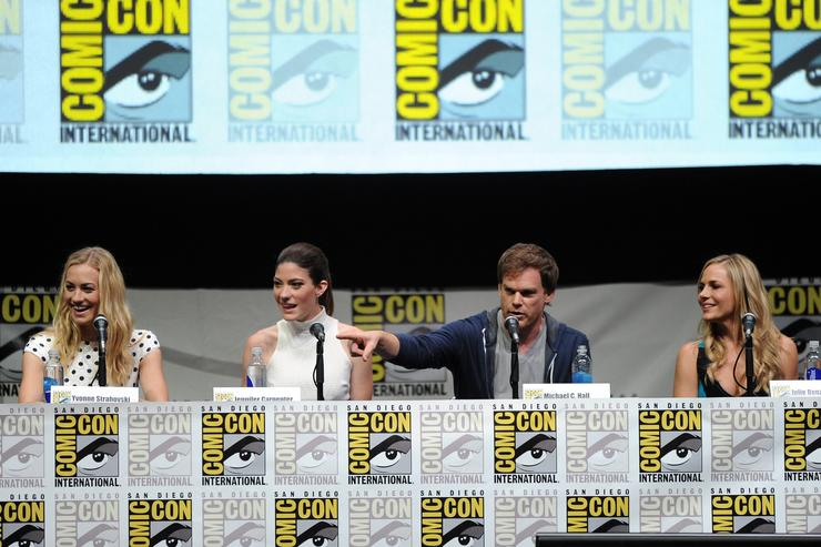 "The cast of ""Dexter"" at Comic-Con International 2013"