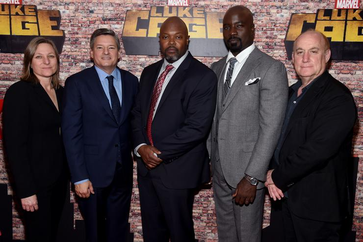 "The ""Luke Cage"" team at the New York premiere"
