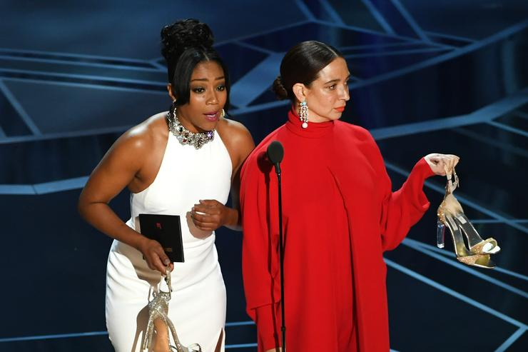 Tiffany Haddish and Maya Rudolph at the 90th Oscars