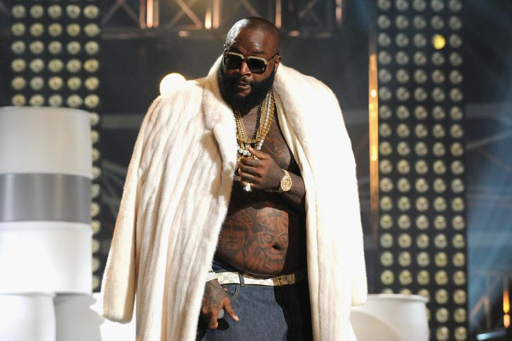 Rick Ross performs onstage at the 2012 BET Hip Hop Awards at Boisfeuillet Jones Atlanta Civic Center on September 29, 2012 in Atlanta, Georgia