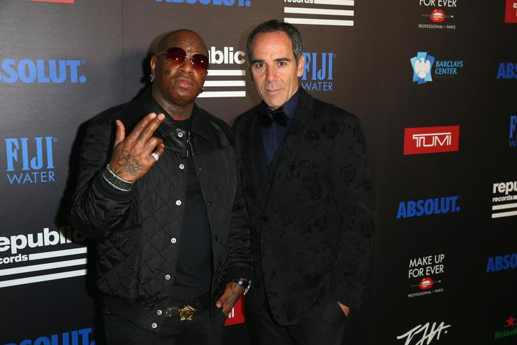 Birdman with CEO of Republic Records Monte Lipman