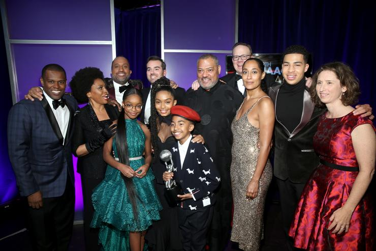 The cast of Black-ish at the 49th NAACP Image Awards