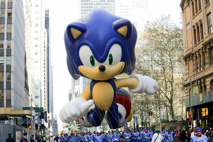 Sonic the Hedgehog at  the 87th Annual Macy's Thanksgiving Day Parade