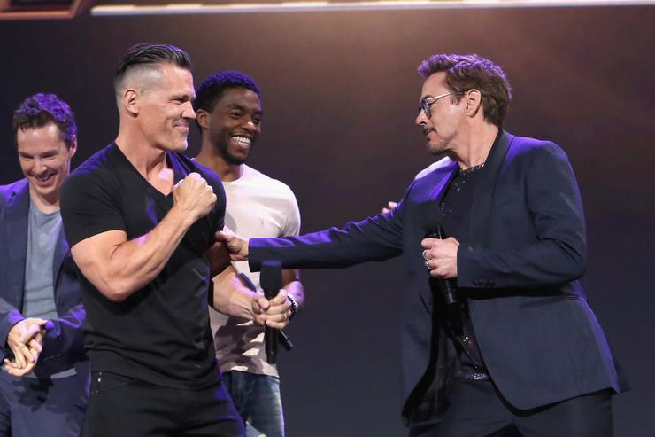 Josh Brolin and Robert Downey Jr. at Disney's D23 EXPO
