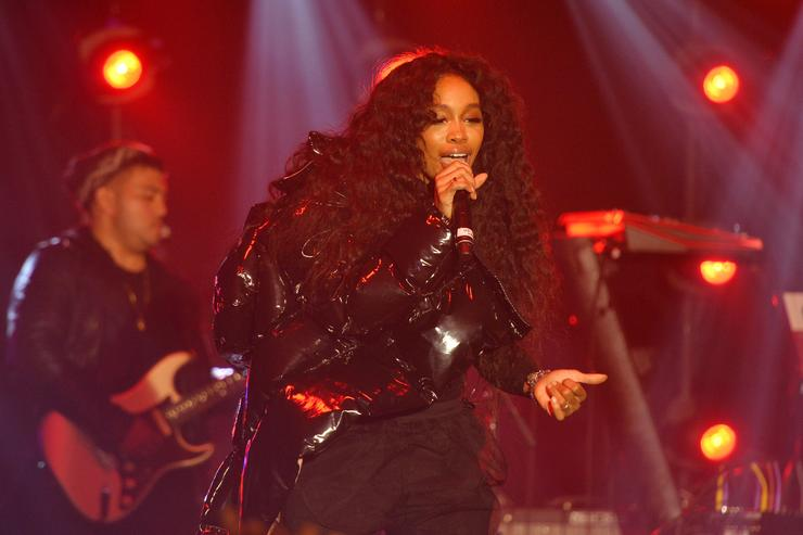 SZA performs onstage at 'Spotify's Best New Artist Party' at Skylight Clarkson on January 25, 2018 in New York City