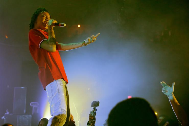 YBN Nahmir performs onstage during Spotify's RapCaviar Live in Houston at Revention Music Center on December 14, 2017 in Houston, Texas