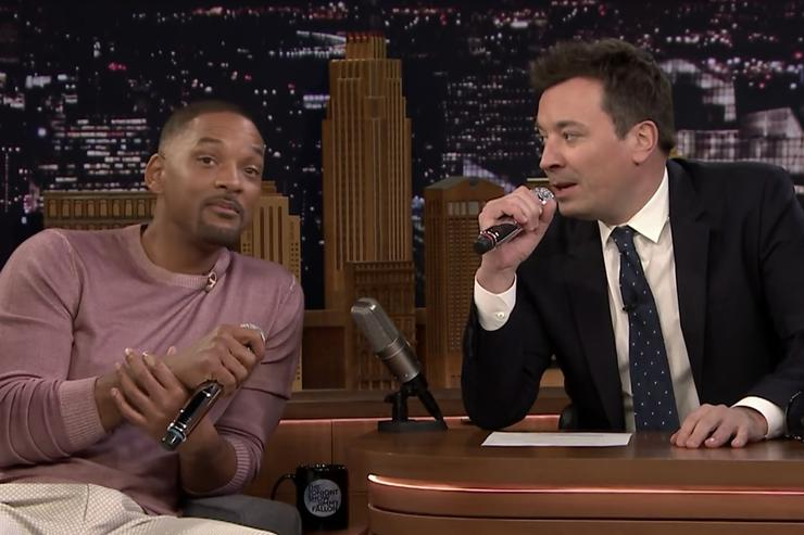 Will Smith and Jimmy Fallon Perform 'Fresh Prince' Theme on 'Tonight Show'