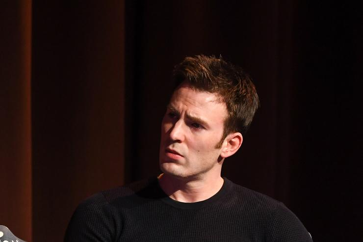 Actor Chris Evans speaks onstage at 'Wind River' special screening at SCADShow on November 29, 2017 in Atlanta, Georgia.