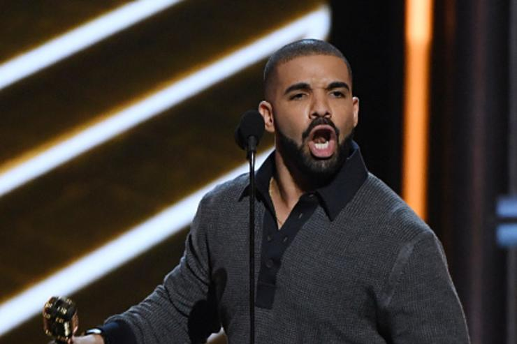 Recording artist Drake accepts the Top Billboard 200 Album award for 'Views' during the 2017 Billboard Music Awards at T-Mobile Arena on May 21, 2017 in Las Vegas, Nevada