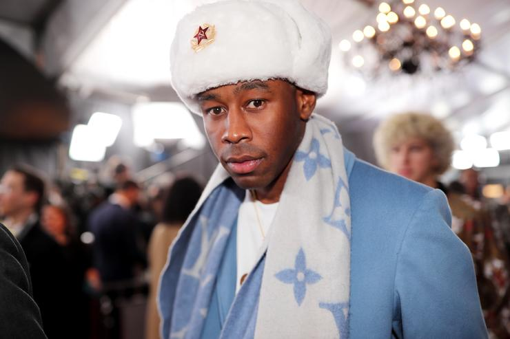 Rapper Tyler, the Creator attends the 60th Annual GRAMMY Awards at Madison Square Garden on January 28, 2018 in New York City.