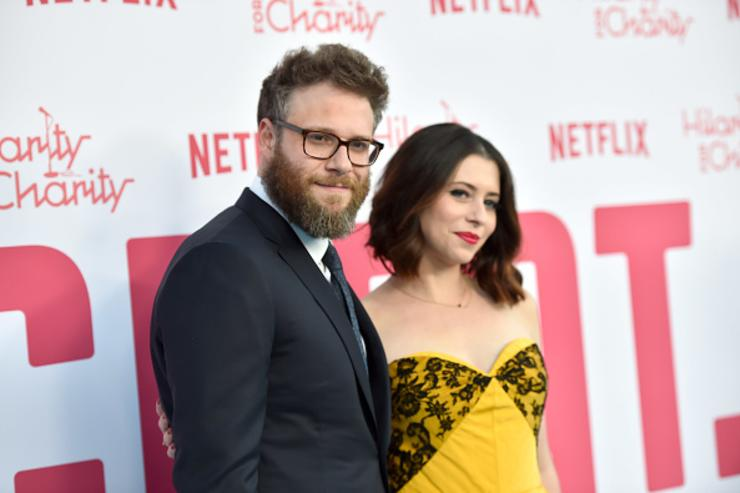 Seth Rogen and Lauren Miller Rogen attend the 6th Annual Hilarity For Charity at The Hollywood Palladium on March 24, 2018 in Los Angeles, California.