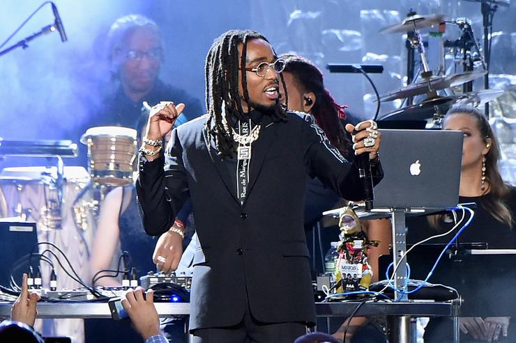 Recording artist Quavo of Migos performs onstage during the Clive Davis and Recording Academy Pre-GRAMMY Gala and GRAMMY Salute to Industry Icons Honoring Jay-Z on January 27, 2018 in New York City.