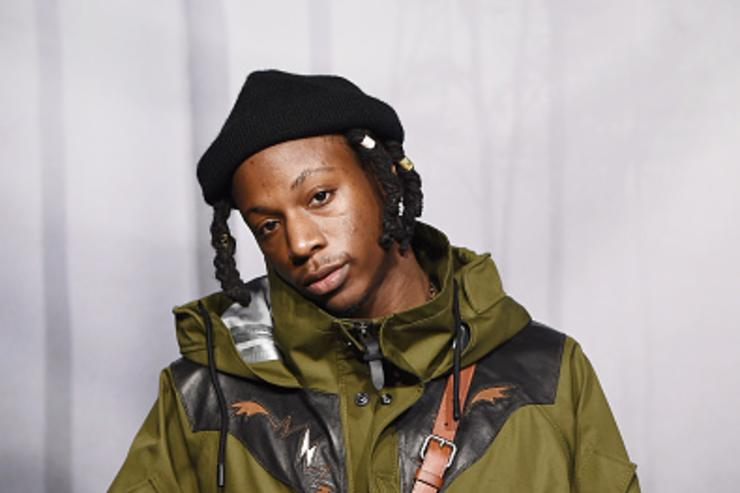 Rapper Joey Badass attends the Coach Fall 2018 Runway Show at Basketball City on February 13, 2018 in New York City.