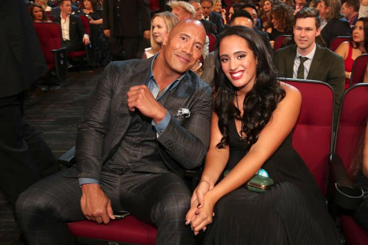 Actor Dwayne Johnson (L) and Simone Alexandra Johnson attend the People's Choice Awards 2017 at Microsoft Theater on January 18, 2017 in Los Angeles, California.