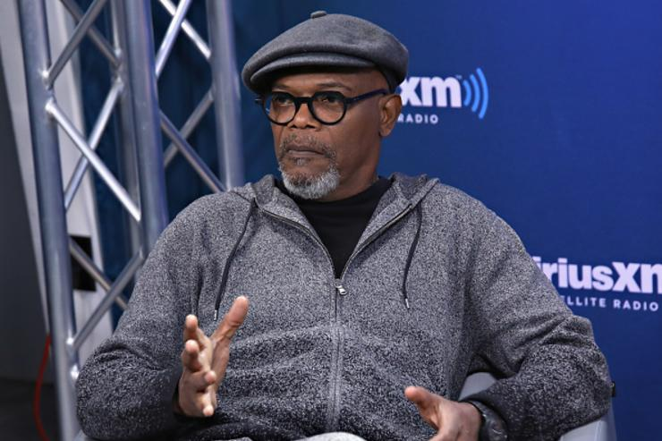 Actor Samuel L. Jackson speaks during SiriusXM's 'Town Hall' with the cast of 'Kong: Skull Island'; town hall to air on SiriusXM's Entertainment Weekly Radio on March 6, 2017 in New York City.