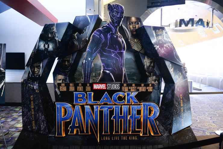 A general view of atmosphere at the Toronto Premiere of 'Black Panther' at Scotiabank Theatre on February 6, 2018 in Toronto, Canada.