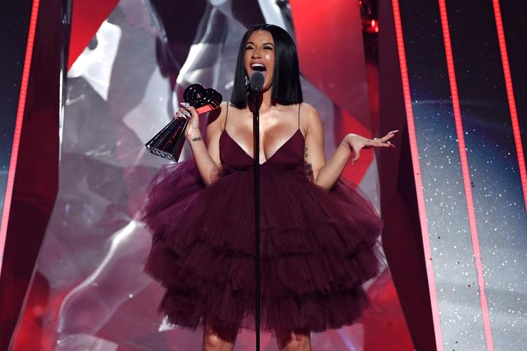 Cardi B accepts Best New Artist onstage during the 2018 iHeartRadio Music Awards which broadcasted live on TBS TNT and truTV at The Forum