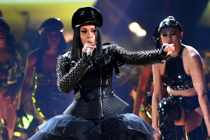 Cardi B performs onstage during the 2018 iHeartRadio Music Awards which broadcasted live on TBS TNT and truTV at The Forum
