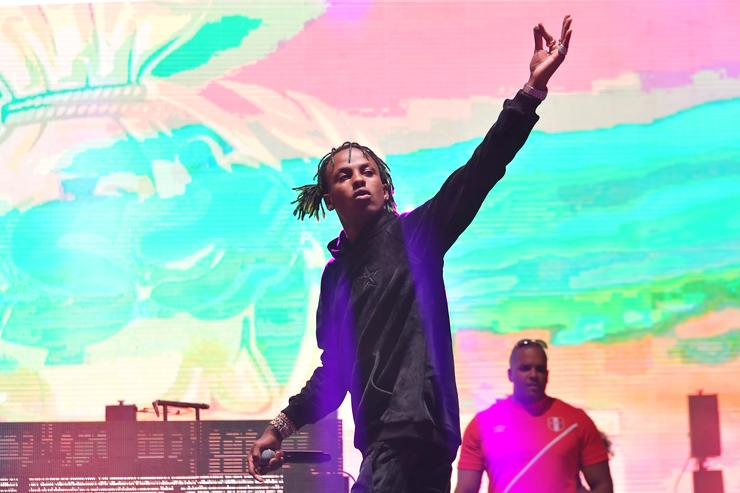 Rich the Kid performs onstage during adidas Creates 747 Warehouse St., an event in basketball culture, on February 16, 2018 in Los Angeles, California.  rich the kid Rich The Kid Says He's Almost Done Working On His Next Album 1523292961 5fde4cb8a243ec7f47557700ff7598f2