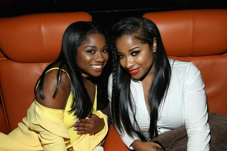 Reginae Carter and Antonia Wright attend the WE tv's Growing Up Hip Hop Atlanta premiere screening event on May 16, 2017 in New York City