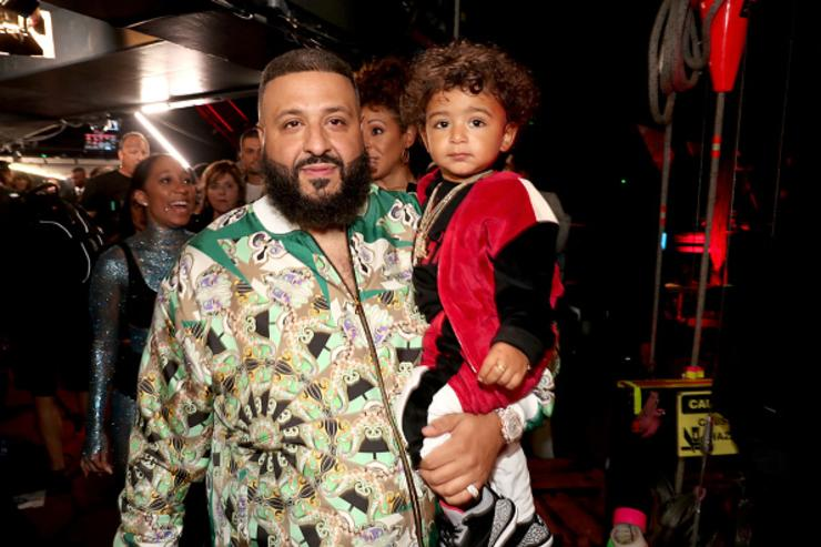 Co-host DJ Khaled (L) and Asahd Tuck Khaled attend the 2018 iHeartRadio Music Awards which broadcasted live on TBS, TNT, and truTV at The Forum on March 11, 2018 in Inglewood, California.