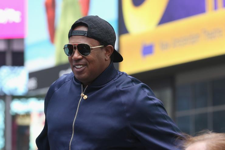 Master P attends Collectors Cafe Presents The Unveiling Of The Original, Long-Lost Jackie Robinson Baseball Contracts at Times Square on April 11, 2016 in New York City.