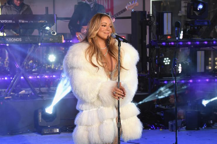 Mariah Carey performs at the Dick Clark's New Year's Rockin' Eve with Ryan Seacrest 2018 on December 31, 2017 in New York City.