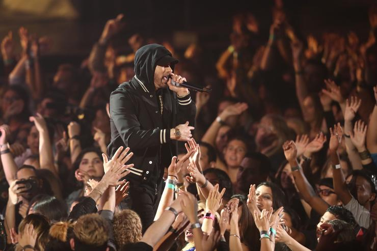 Eminem Pauses During Coachella Set to Respond to Mean Tweets