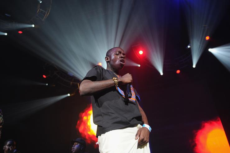 Rapper Bobby Shmurda performs on stage at Power 105.1's Powerhouse 2014 at Barclays Center of Brooklyn on October 30, 2014 in New York City.