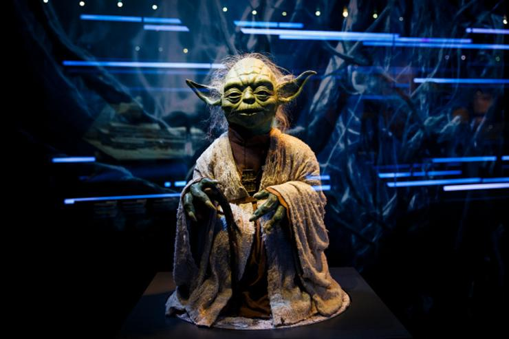 A puppet of iconic character Yoda is displayed at the Star Wars Identities exhibition at The O2 Arena on November 11, 2016 in London, England. Star Wars Identities is a brand new exhibition opening at The O2 on 18th of November 2016.
