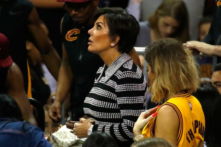 Kris Jenner and Khloe Kardashian attend Game 4 of the 2017 NBA Finals between the Golden State Warriors and the Cleveland Cavaliers at Quicken Loans Arena on June 9, 2017 in Cleveland, Ohio