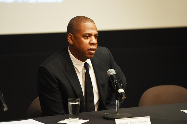 Rapper Shawn 'JAY Z' Carter participates in a panel discussion during Shawn 'JAY Z' Carter, the Weinstein Company and Spike TV's announcement of a documentary event series on Kalief Browder on October 6, 2016 in New York City.