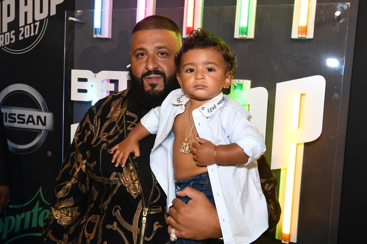 DJ Khaled and Asahd Khaled attend the BET Hip Hop Awards 2017 at The Fillmore Miami Beach at the Jackie Gleason Theater on October 6, 2017 in Miami Beach, Florida