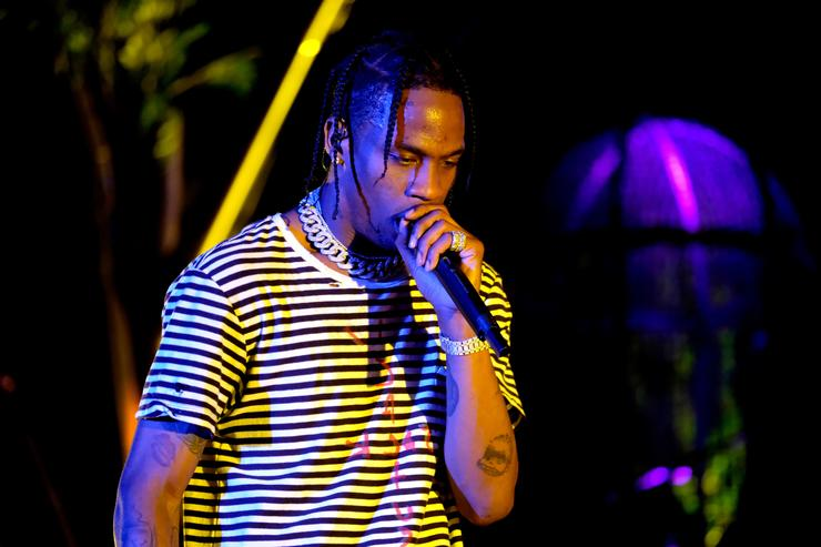 Recording artist Travis Scott performs at the Outdoor Stage during day 1 of the Coachella Valley Music And Arts Festival (Weekend 1) at the Empire Polo Club on April 14, 2017 in Indio, California.