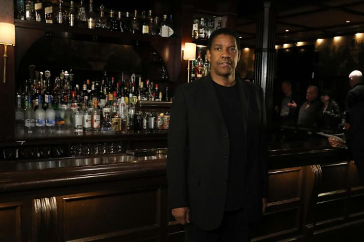 Denzel Washington attends 'The Iceman Cometh' Broadway Meet The Press at Delmonico's on April 11, 2018 in New York City.