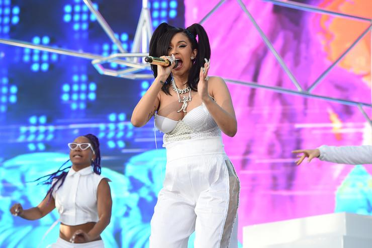 Cardi B performs onstage during the 2018 Coachella Valley Music and Arts Festival Weekend 1 at the Empire Polo Field on April 15, 2018 in Indio, California.